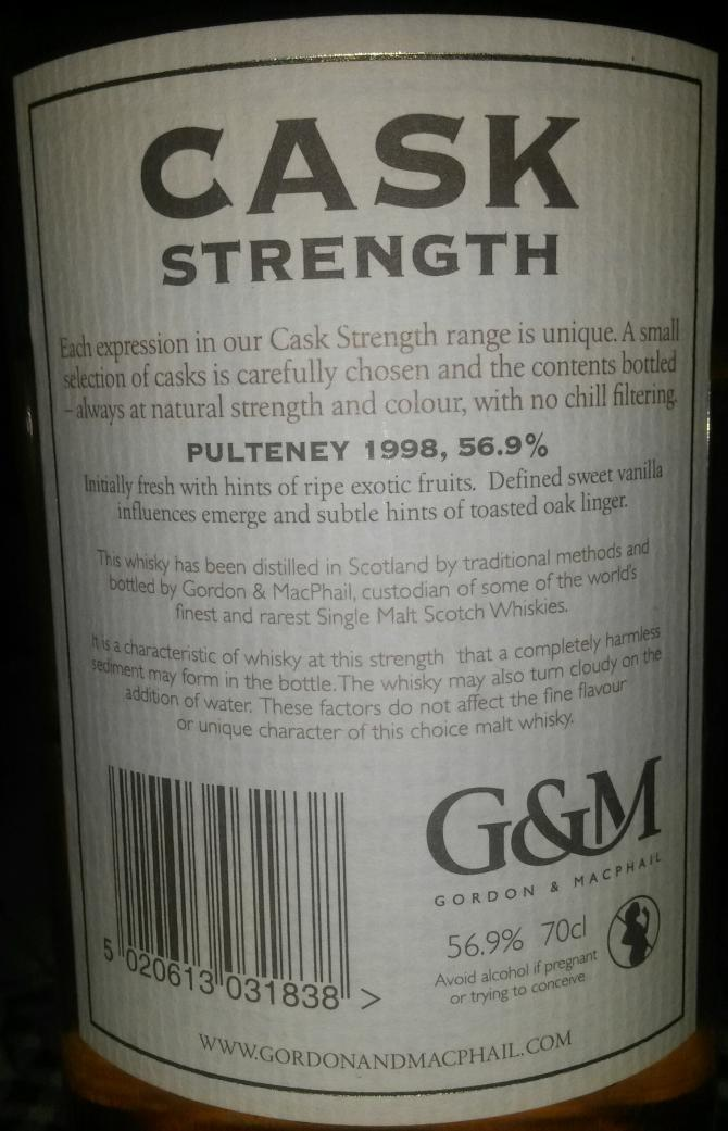 Old Pulteney 1998 GM