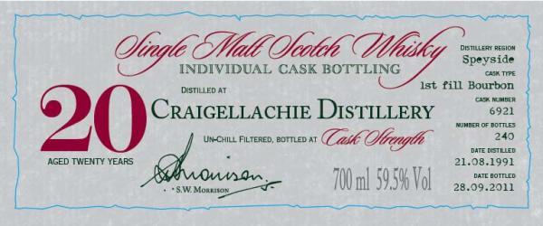 Craigellachie 1991 DR