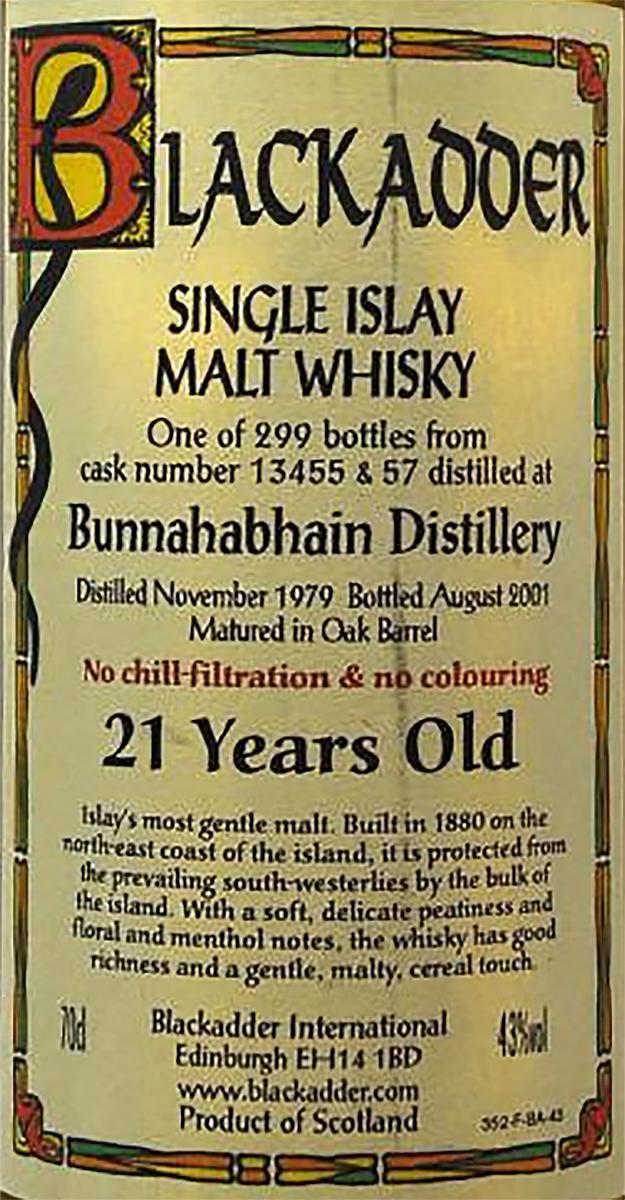 Bunnahabhain 1979 BA