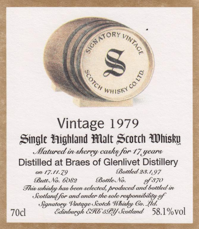 Braes of Glenlivet 1979 SV