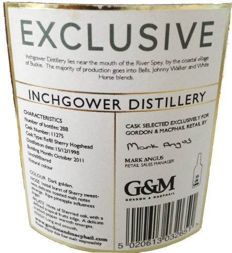 Inchgower 1998 GM