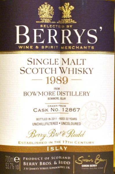 Bowmore 1989 BR