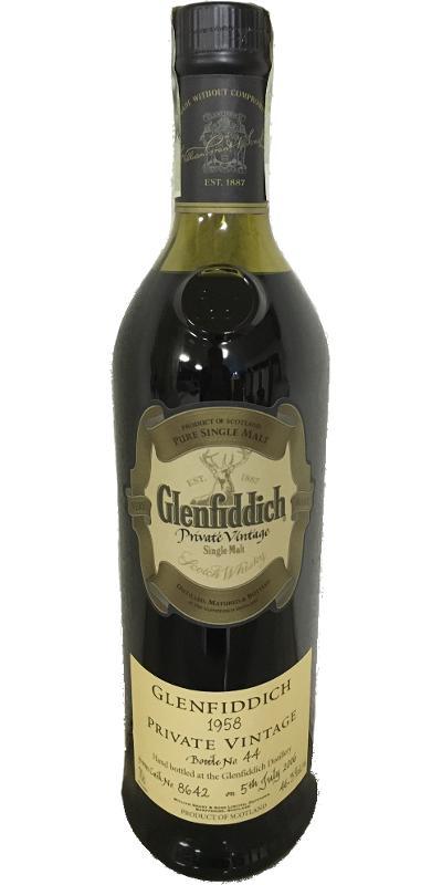Glenfiddich 1958
