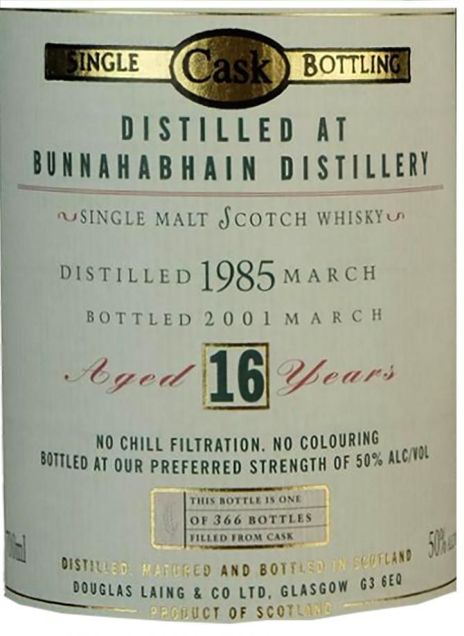 Bunnahabhain 1985 DL