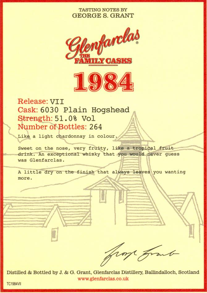 Glenfarclas 1984