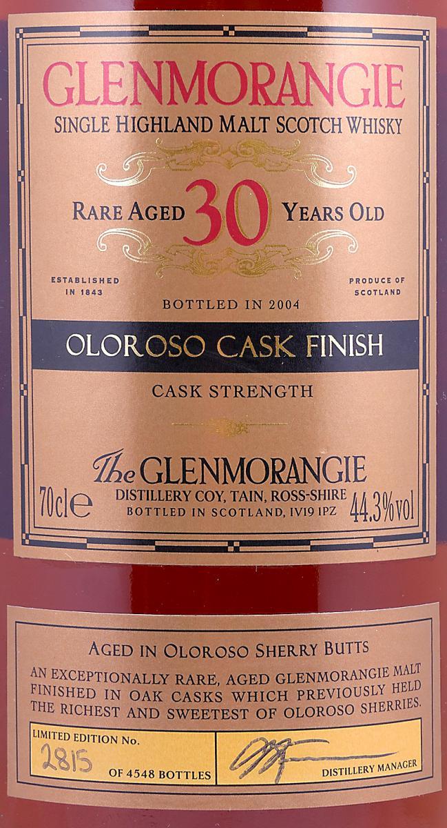 Glenmorangie 30-year-old