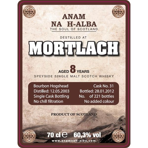 Mortlach 2003 ANHA