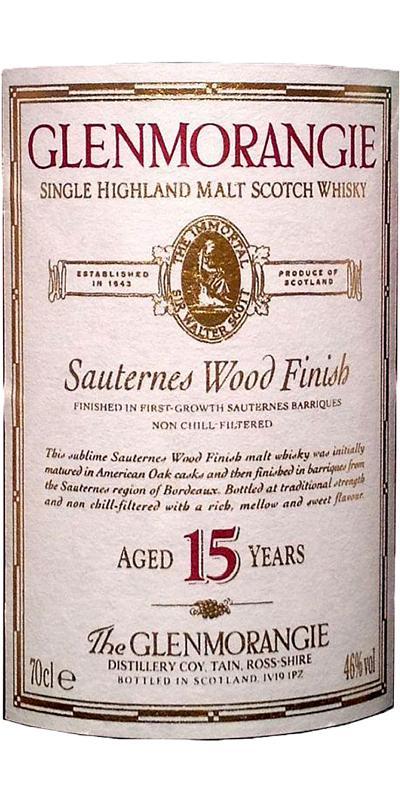Glenmorangie Sauternes Wood Finish