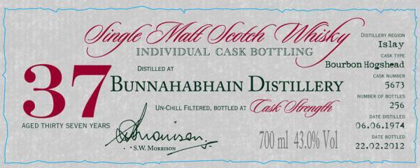 Bunnahabhain 1974 DR