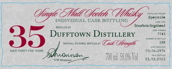 Dufftown 1976 DR