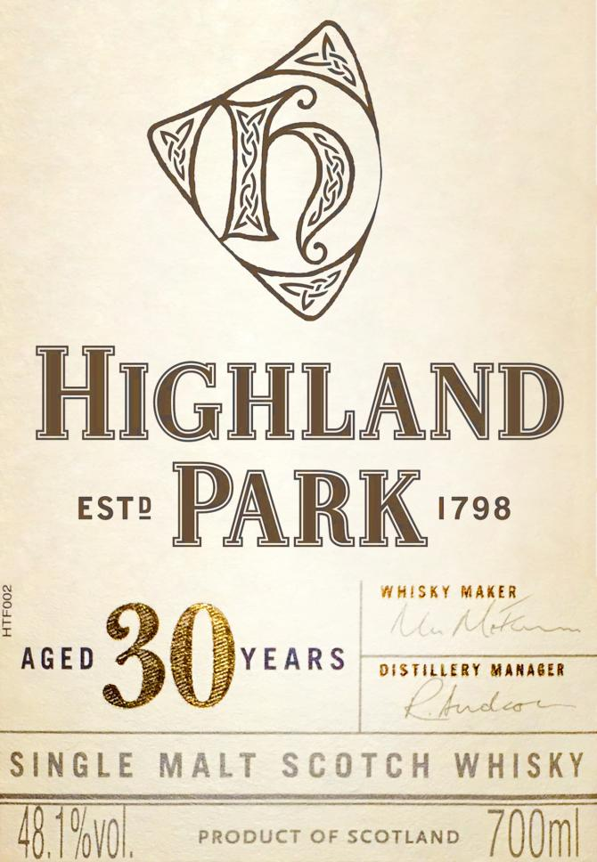 Highland Park 30-year-old