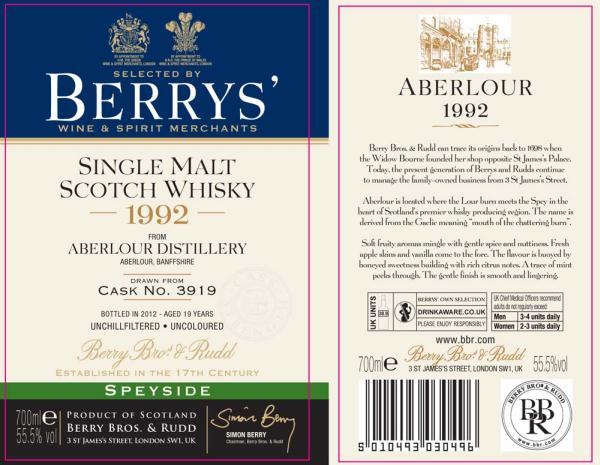 Aberlour 1992 BR
