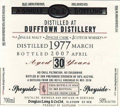 Dufftown 1977 DL