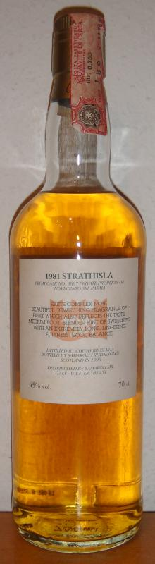 Strathisla 1981 Sa
