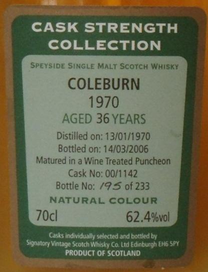 Coleburn 1970 SV