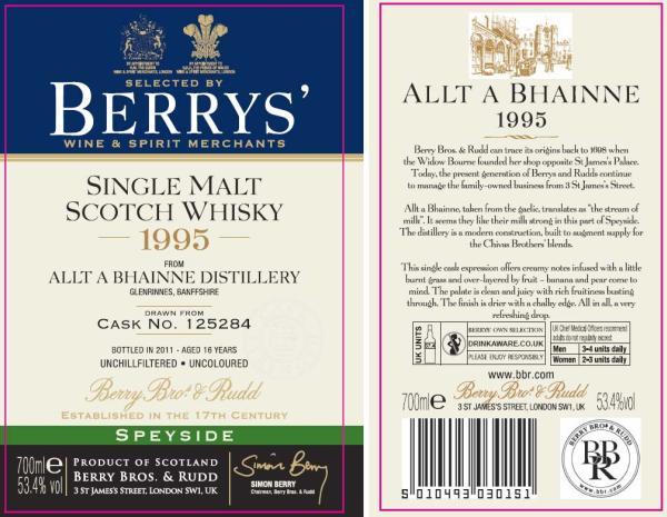 Allt-a-Bhainne 1995 BR