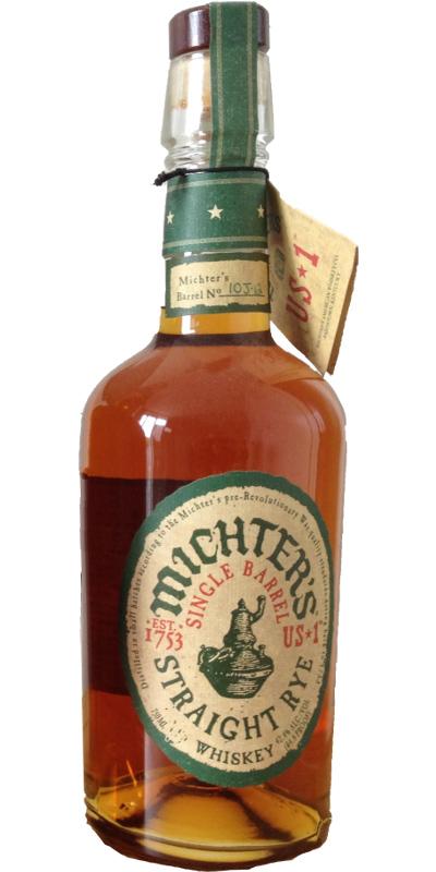 Michter's US*1 Single Barrel Straight Rye