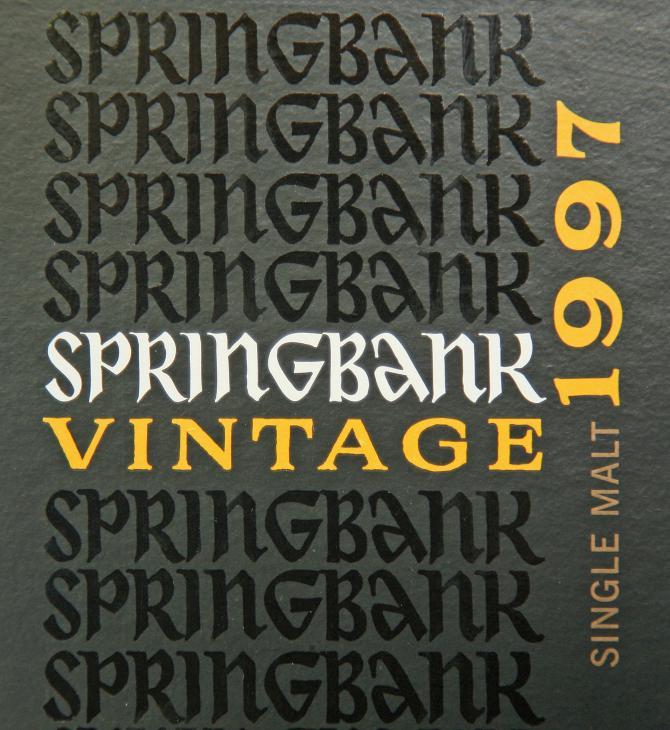Springbank 1997 Vintage