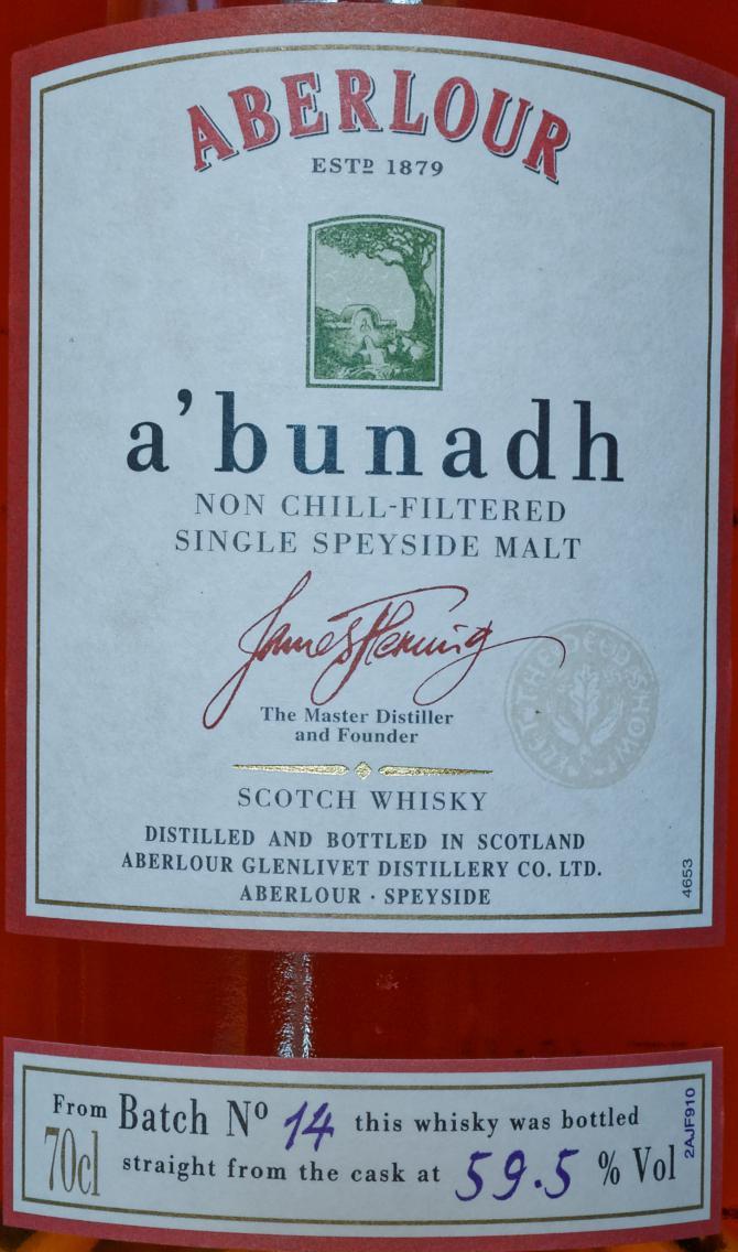Aberlour A'bunadh batch #14