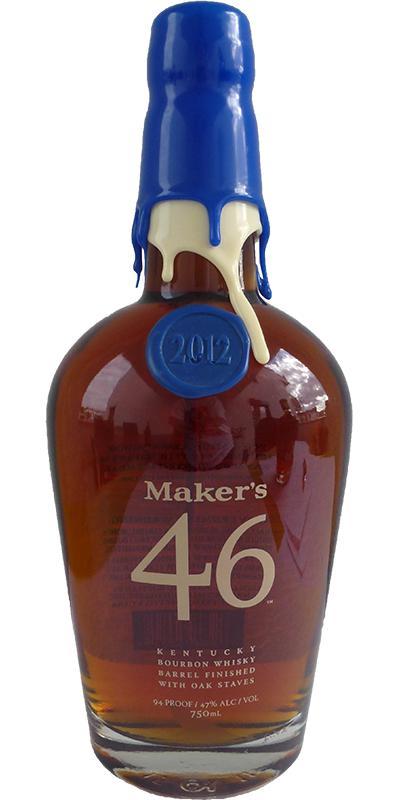 Maker's 46 Blue / White Wax