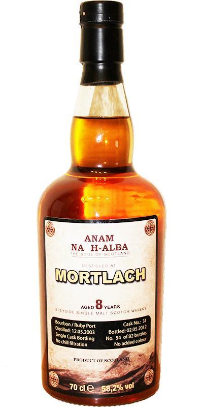 Mortlach 2003 ANHA