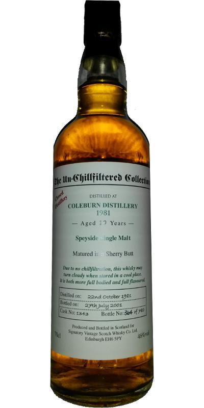 Coleburn 1981 SV