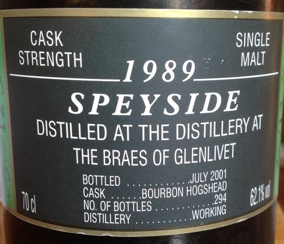 Braes of Glenlivet 1989 CA