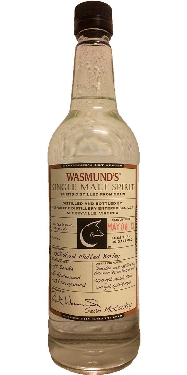 Wasmund's 2013 Single Malt Spirit