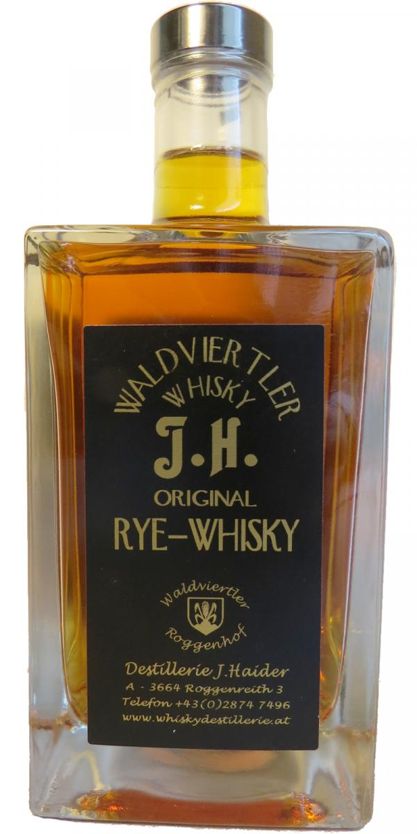 Waldviertler Whisky J.H. Original - Rye Whisky