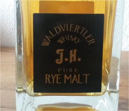 Waldviertler Whisky J.H. Pure Rye Malt