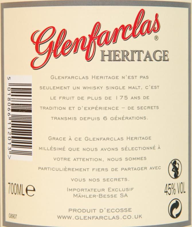 Glenfarclas 2001 Heritage