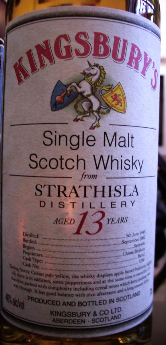 Strathisla 1989 Kb