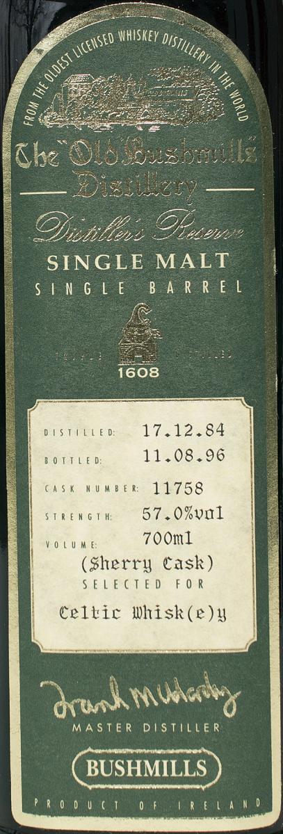 Bushmills 1984