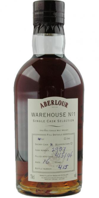 Aberlour 1996 Warehouse No. 1