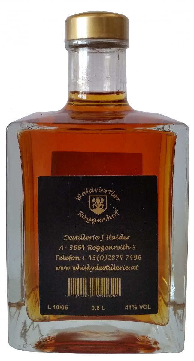 Waldviertler Whisky J.H. Pure Rye Malt