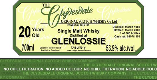 Glenlossie 1988 TCO