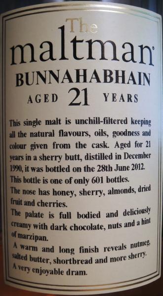 Bunnahabhain 1990 MBl