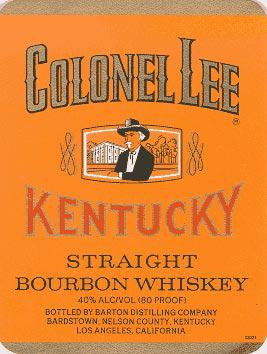 Colonel Lee Kentucky Straight Bourbon Whiskey