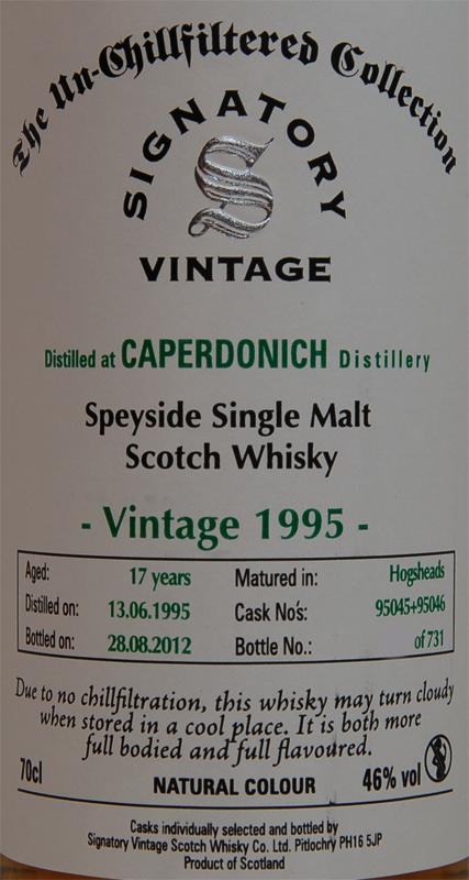 Caperdonich 1995 SV