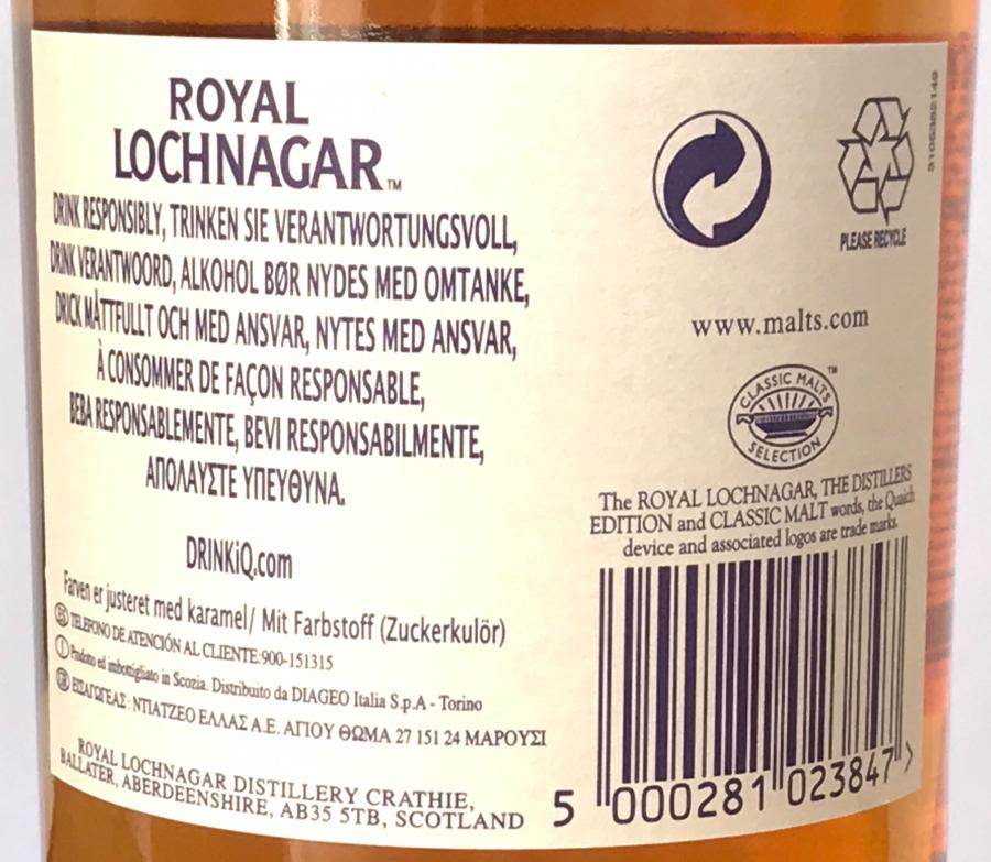 Royal Lochnagar 2000
