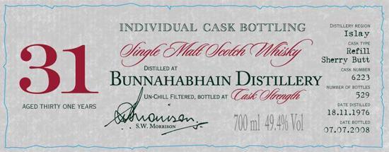 Bunnahabhain 1976 DR