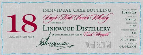 Linkwood 1989 DR