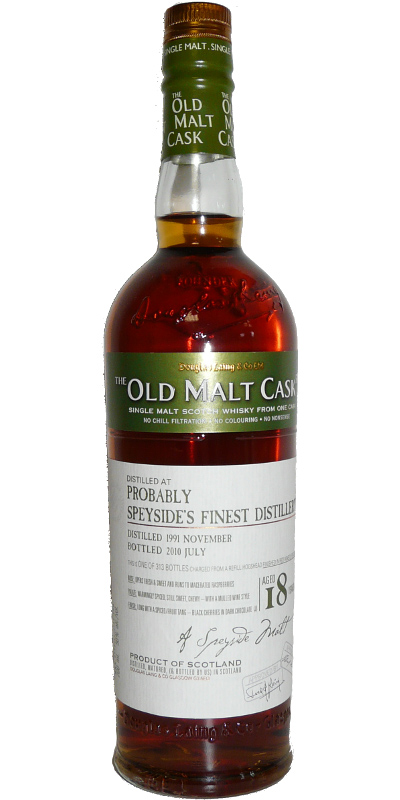 Probably Speyside's Finest 1991 DL