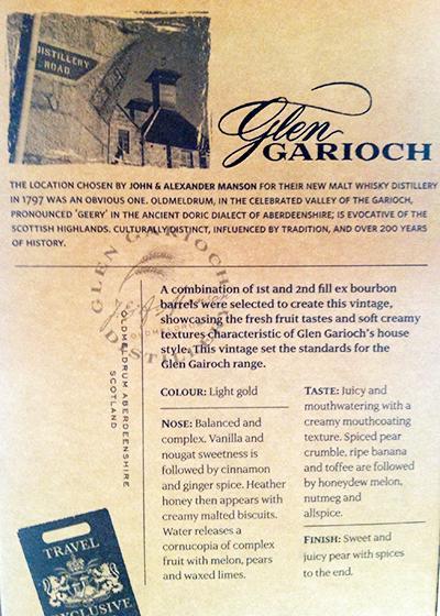 Glen Garioch 1997
