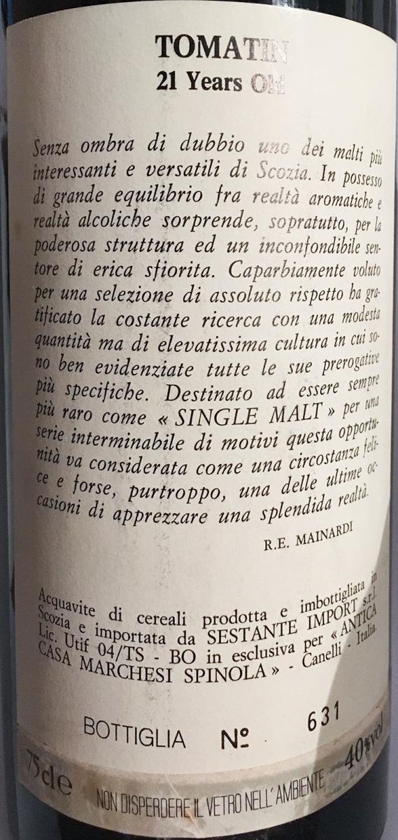 Tomatin 1968 Ses