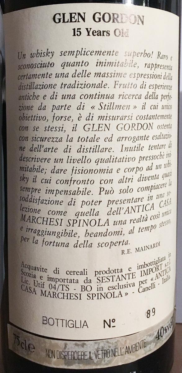 Glen Gordon 1974 Ses