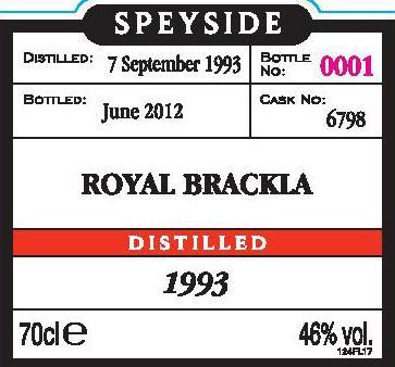 Royal Brackla 1993 Mg
