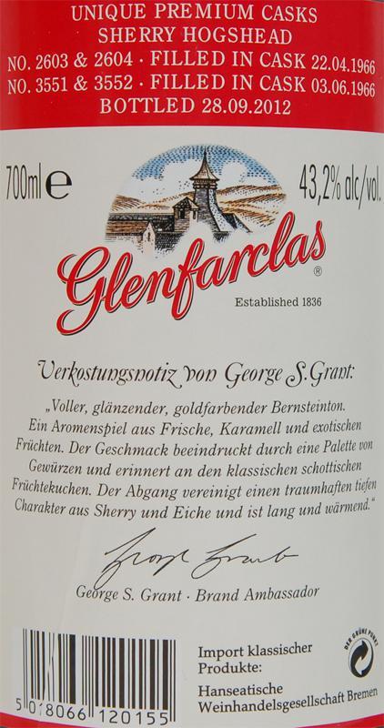 Glenfarclas 1966