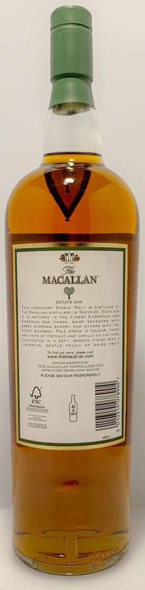 Macallan The Estate Oak