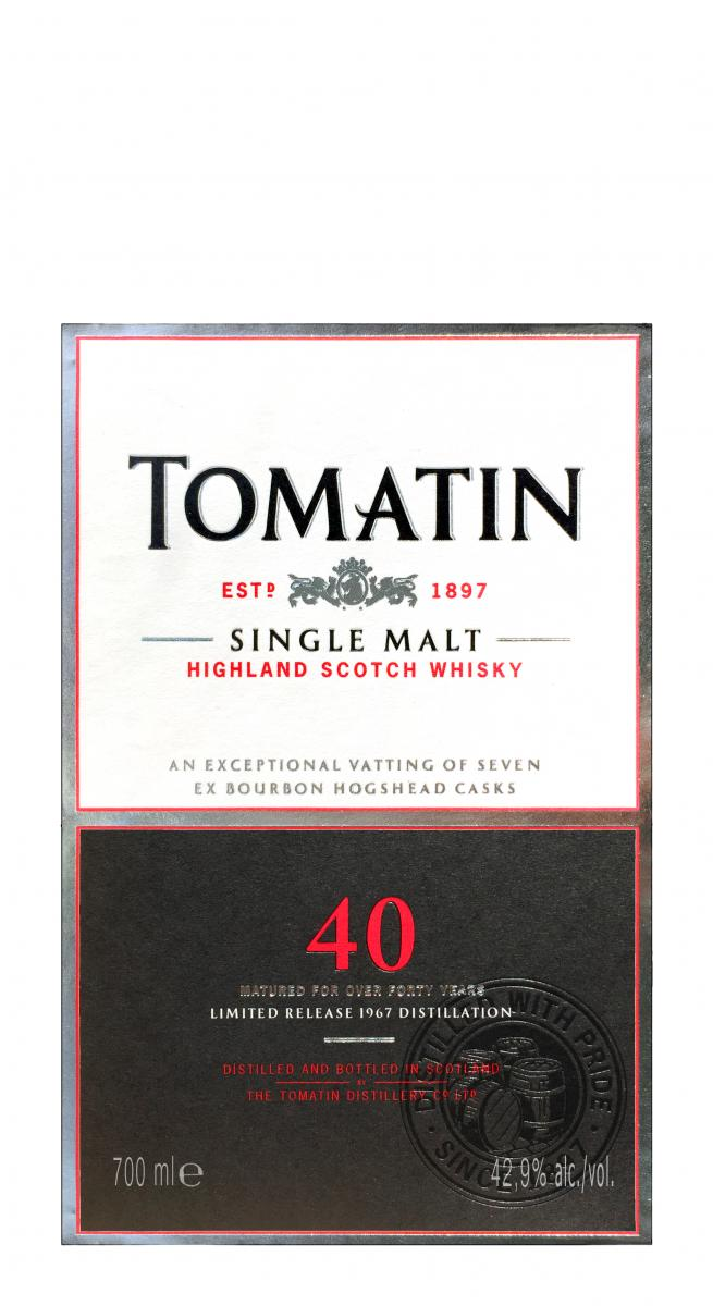 Tomatin 40-year-old